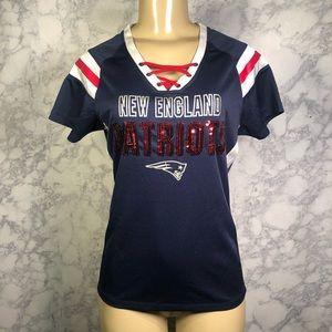 NFL New England Patriots S Sequin Jersey Top